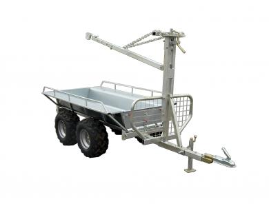 Bild på Kombivagn med flak och kran